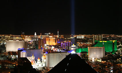 Las Vegas Strip from the Mix nightclub at THEhotel