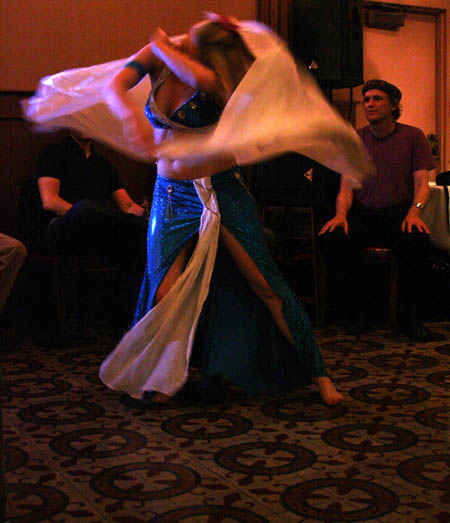 Whirling belly dancer