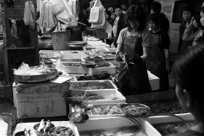 Seafood store, Graham Street Market, Hong Kong